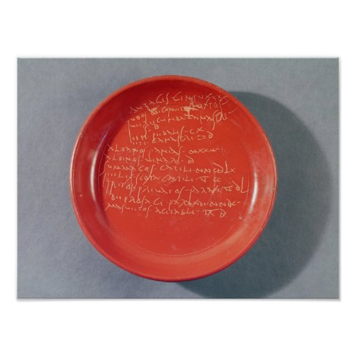 Plate with Celtic text, 1st-2nd century Posters