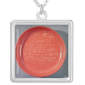 Plate with Celtic text, 1st-2nd century Square Pendant Necklace