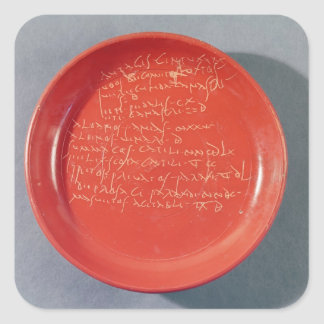 Plate with Celtic text, 1st-2nd century Square Sticker