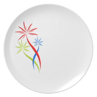 plate with fireworks creative