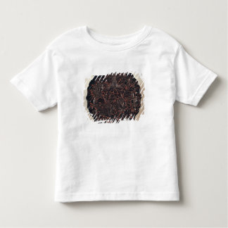 Plate with floral motifs and two birds t-shirt