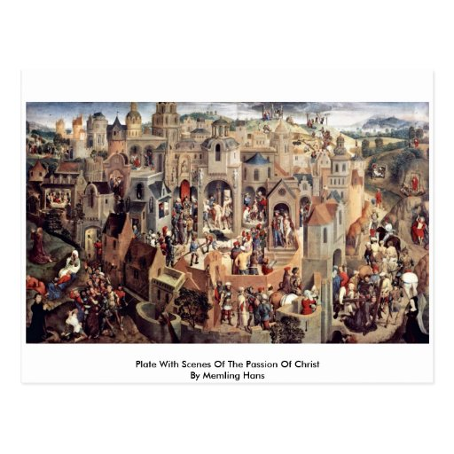 Plate With Scenes Of The Passion Of Christ Postcard