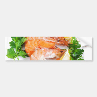 plate with shrimps bumper sticker