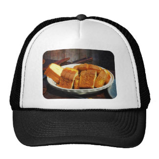 Plate With Sliced Bread and Knives Trucker Hats