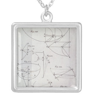 Plate XIX, Illustrating Proposition LXV Silver Plated Necklace