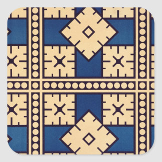Plate XLIV from 'Studies in Design', c.1874-76 (li Square Sticker