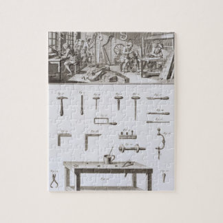 Plate XVIII: The instrument maker's workshop and t Jigsaw Puzzle