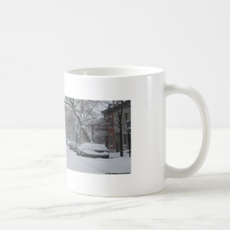 Plateau Montreal in Winter Basic White Mug