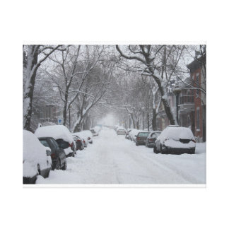 Plateau Montreal in Winter Gallery Wrapped Canvas