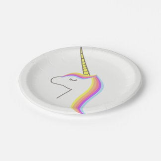Plates Plates paper Unicorn Birthday