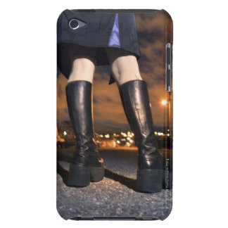 Platform boots on gothic woman barely there iPod cover
