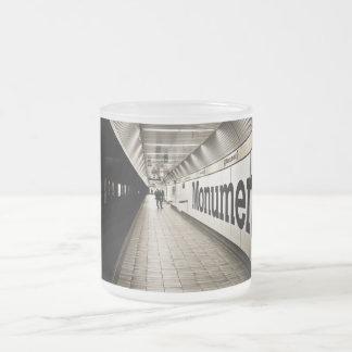 platform frosted glass mug