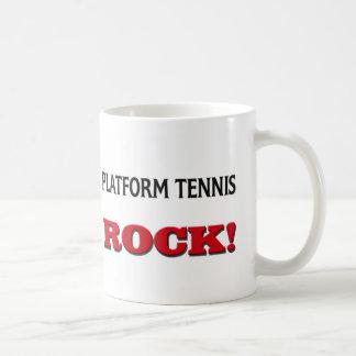 Platform Tennis Rock Coffee Mugs