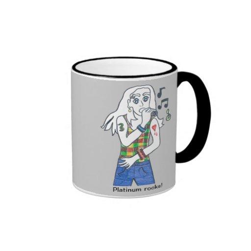 Platiinum rocks/Aaron soars Coffee Mugs