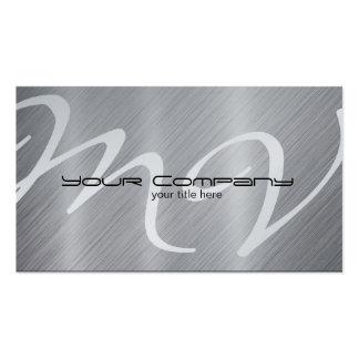 Platinum Aluminum Business Cards