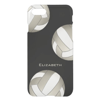 platinum and white women's volleyball iPhone 7 case