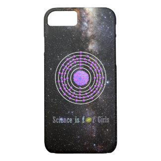 Platinum Atom Science is for Girls iPhone 8/7 Case