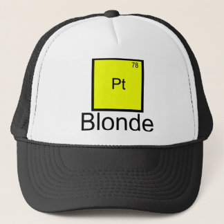 Platinum Blonde Element Pun T-Shirt Trucker Hat