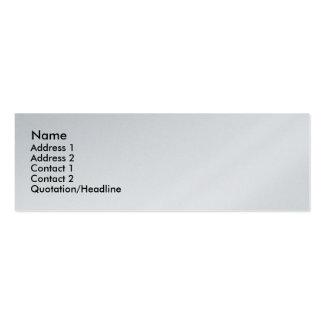 Platinum Executive Skinny Profile Business Card