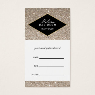 Platinum Glitter and Glamour Appointment Card