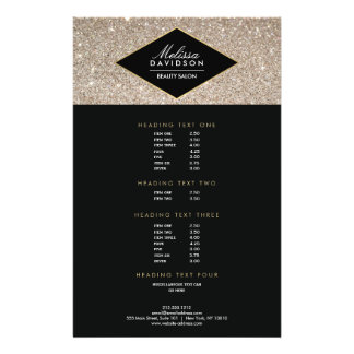 Platinum Glitter and Glamour Beauty Salon Flyer