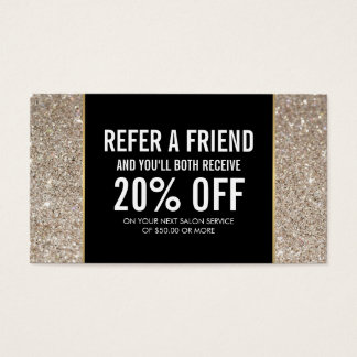 Platinum Glitter and Glamour Referral Card