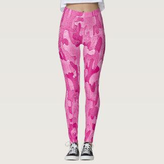 Platinum Hot Pink Street Ninja Camo Leggings