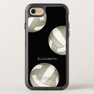 platinum white women's volleyball OtterBox symmetry iPhone 8/7 case