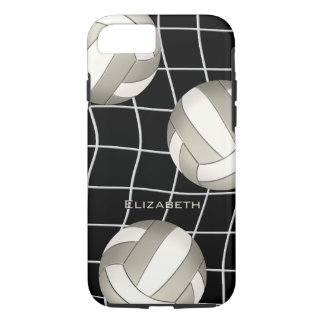 platinum white women's volleyball with vball net iPhone 8/7 case