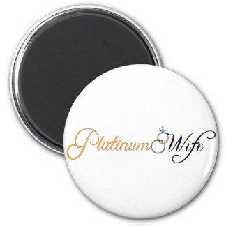 Platinum Wife 6 Cm Round Magnet