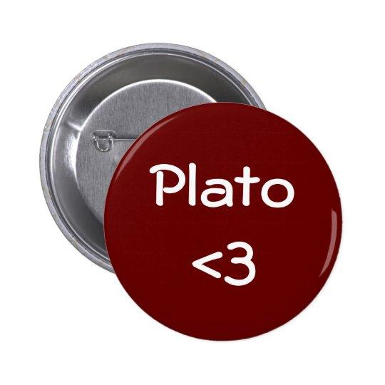 Plato <3 6 cm round badge