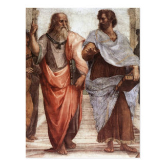 Plato and Aristotle Postcard