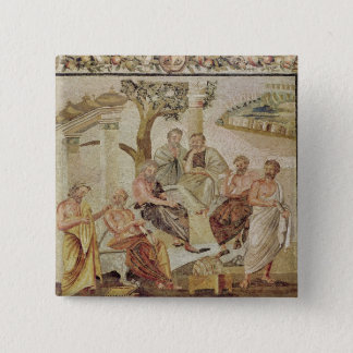 Plato Conversing with his Pupils 15 Cm Square Badge