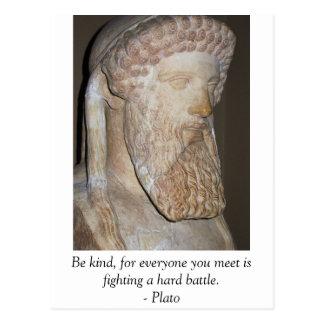 Plato famous quote postcards