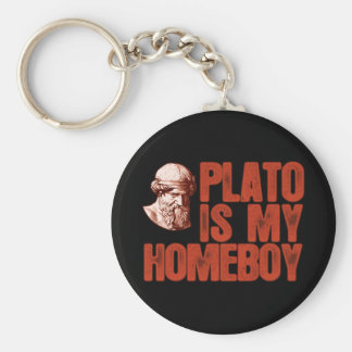 Plato Is My Homeboy Basic Round Button Key Ring