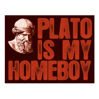 Plato Is My Homeboy Postcard