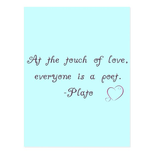 Plato Love Poet Quote Postcard
