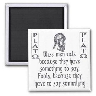 Plato Refrigerator Magnet