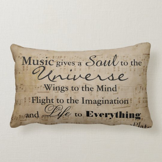 Plato Music Quote - Lumbar Pillow