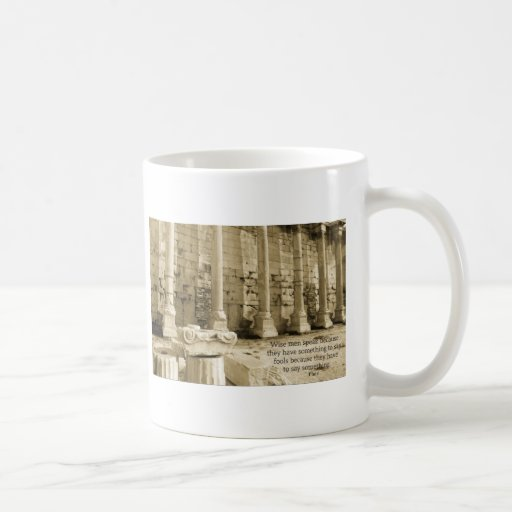 Plato philosophy quote about fools and wisdom mugs