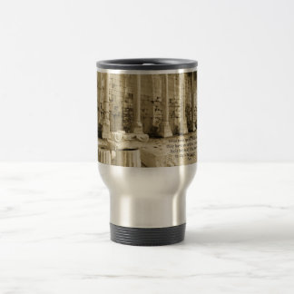 Plato philosophy quote about fools and wisdom travel mug