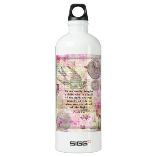 Plato quotation about life, dishonesty, fear SIGG traveller 1.0L water bottle