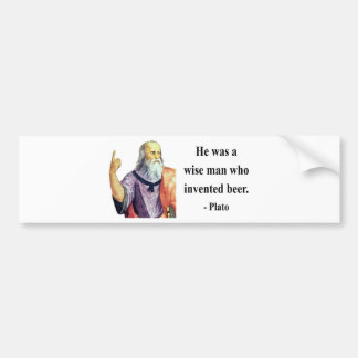 Plato Quote 3b Bumper Sticker