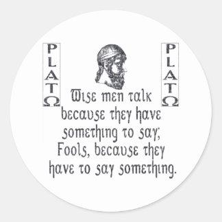 Plato Round Sticker