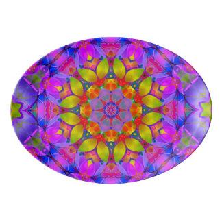Platter Floral Fractal Art G445