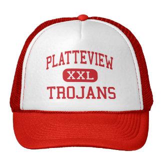 Platteview - Trojans - High - Springfield Nebraska Trucker Hat