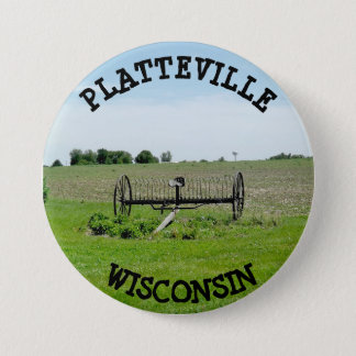 Platteville Wisconsin Button