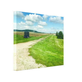 "Platteville, Wisconsin, Midwest, ""The M"" Art Canvas Print"