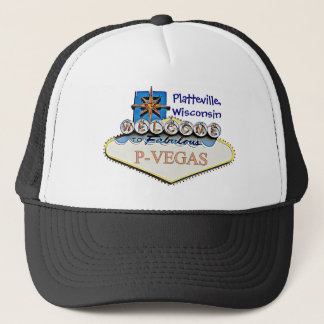 Platteville, Wisconsin P-Vegas Water  Baseball Cap