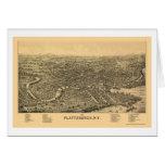 Plattsburgh, NY Panoramic Map - 1899 Card